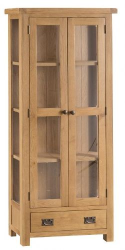 Chelmsford Oak Tall 2 Door Display Unit